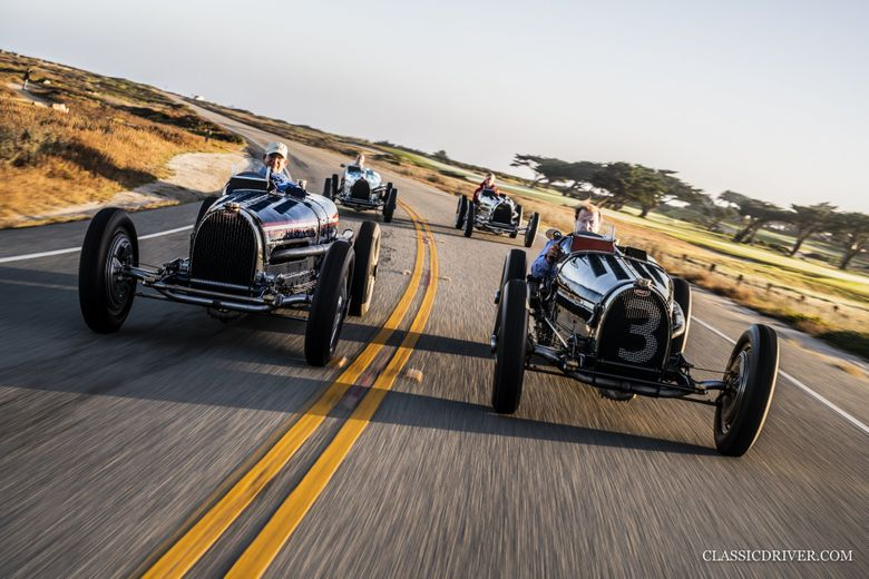 A glorious Grand Prix reunion with all four Bugatti Type 59s