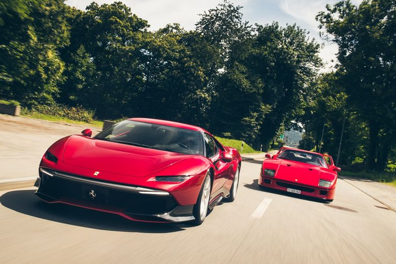 A rosso rendezvous with the Ferrari SP38 Deborah and F40 in Lugano