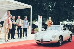 Alfa Romeo Giulietta SZ Zagato awarded 'Best Preserved Vehicle' at Villa d'Este