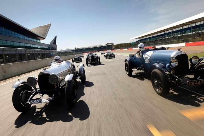 Bentley Boys All Set For Silverstone Centenary Race. Tally Ho Chaps!