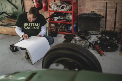 Catching Up With A Former Car Designer-Turned-Reverend Over The Course Of A Rally And A Drawing
