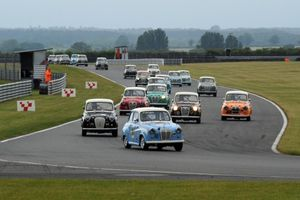 Celebrities gear up for Austin A35 race at 2017 Silverstone Classic
