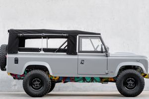 Cool & Vintage's new Land Rover Defender is an undercover art car