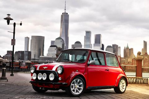 Electric classic Mini shown at New York motor show