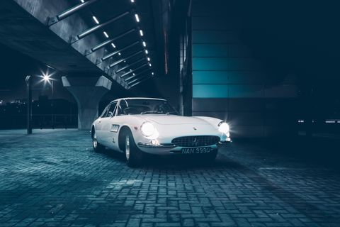 Flying by night with a Ferrari 500 Superfast in London