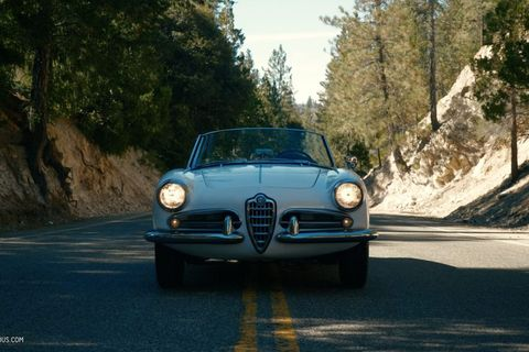 GALLERY: Go Behind The Scenes On Our 1956 Alfa Romeo Giulietta Spider Film Shoot