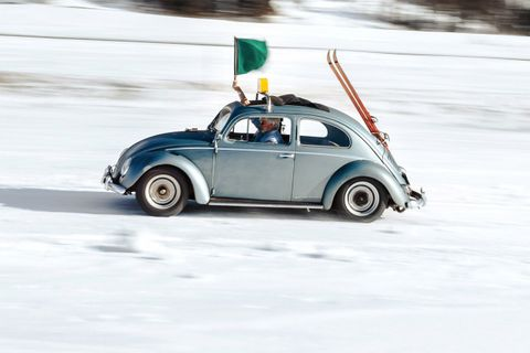 Getting ready for The Ice with the Bollers and their race-control Beetle