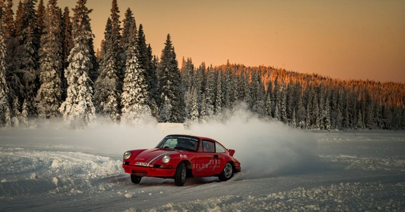 If You Want To Drive A Vintage Porsche On Ice, Sweden's Below Zero School Is The Place To Enroll