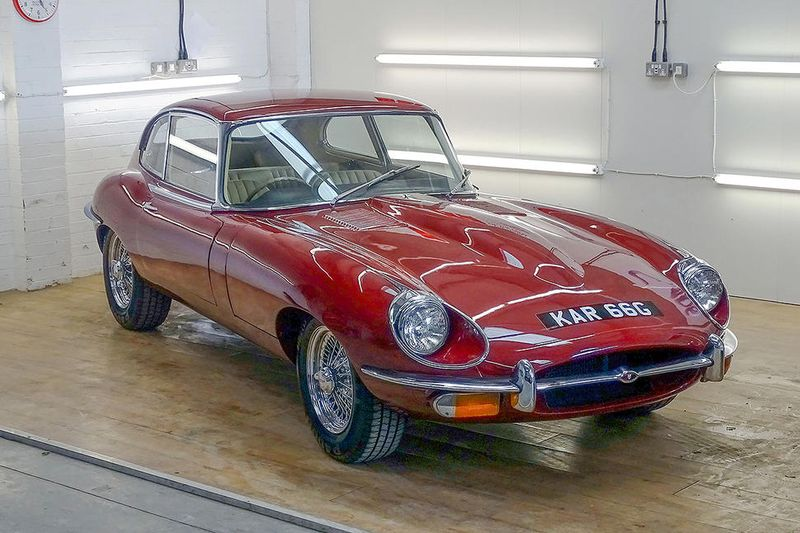 Jaguar E-type with 1700-miles heads to auction