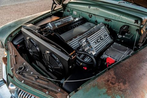 Modern Tesla Power Hides Underneath The Patina Of ICON's 1949 Mercury Coupe