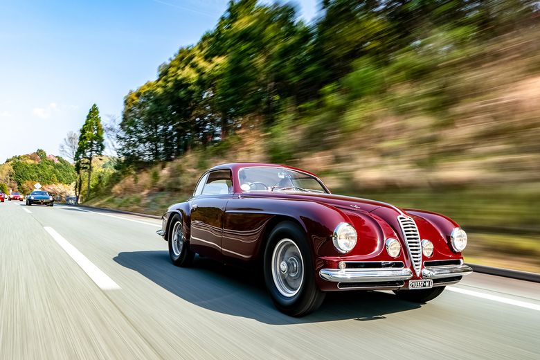 On the road to Kyoto for the third Concorso d'Eleganza in Japan