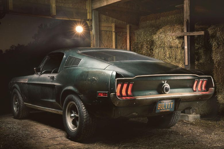 Original Bullitt Ford Mustang shown in Detroit