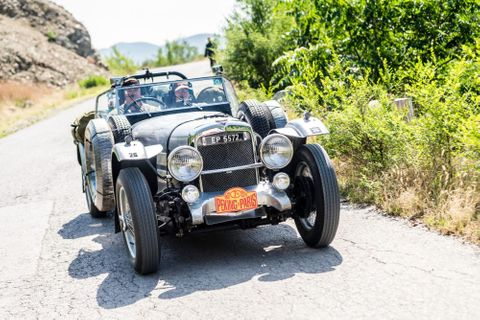 Over 100 Vintage And Classic Cars Set Off On Peking To Paris Endurance Rally Under The Shadow Of The Great Wall Of China