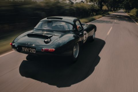 Returning to Goodwood with the most raced Jaguar E-type Lightweight