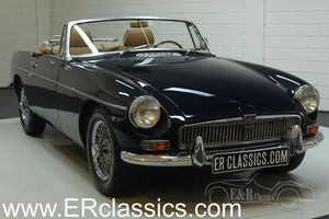 MG B cabriolet 1963 Midnight Blue, overdrive