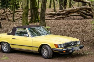 Maple Yellow Mercedes-Benz R107 Is A Retired Hollywood Star Living In Germany