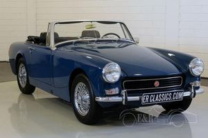 MG Midget cabriolet 1972 Teal Blue, roues rayons