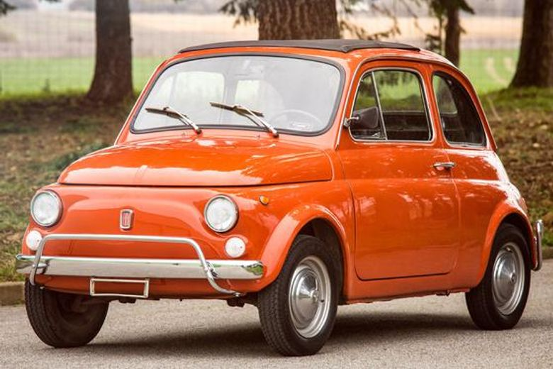 fiat 500 rouge corail 1970 vintage car for sale. Black Bedroom Furniture Sets. Home Design Ideas