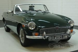 MG B cabriolet 1978 overdrive, roues rayons