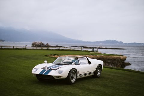 Showing A Ford Gt Roadster At Pebble Beach With Girardo