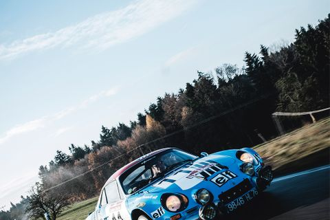 Slimming down this Christmas with an ex-Works Alpine A110