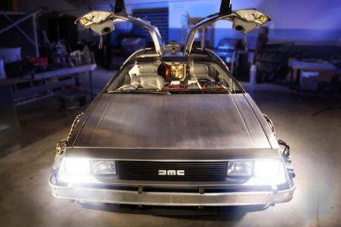 The Back To The Future DeLorean Now Lives At The Petersen Museum