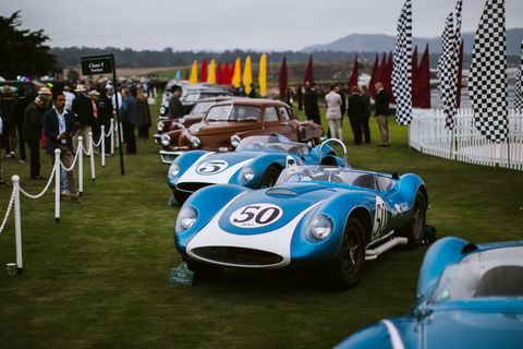 The bevy of beauties at the 2018 Pebble Beach Concours d'Elegance