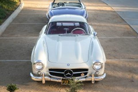 The Mercedes-Benz 300SL Gullwing Nears the Ceiling