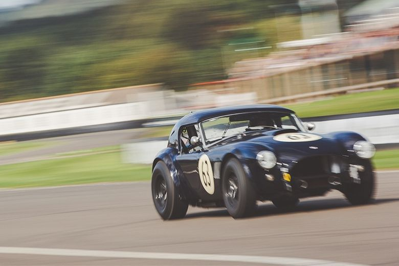 The tyres of this Shelby Cobra are still warm from the RAC TT