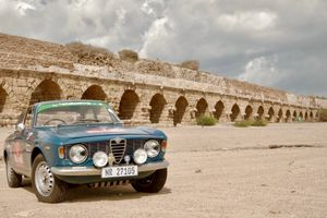 This African-Crossing Alfa Romeo Sprint GT Continued On Across Israel And Greece