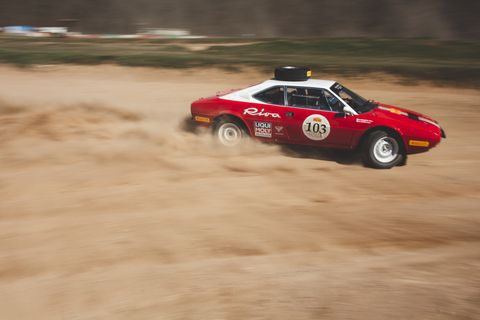 This Ferrari 308 GT4 Rally was built to race from Peking to Paris
