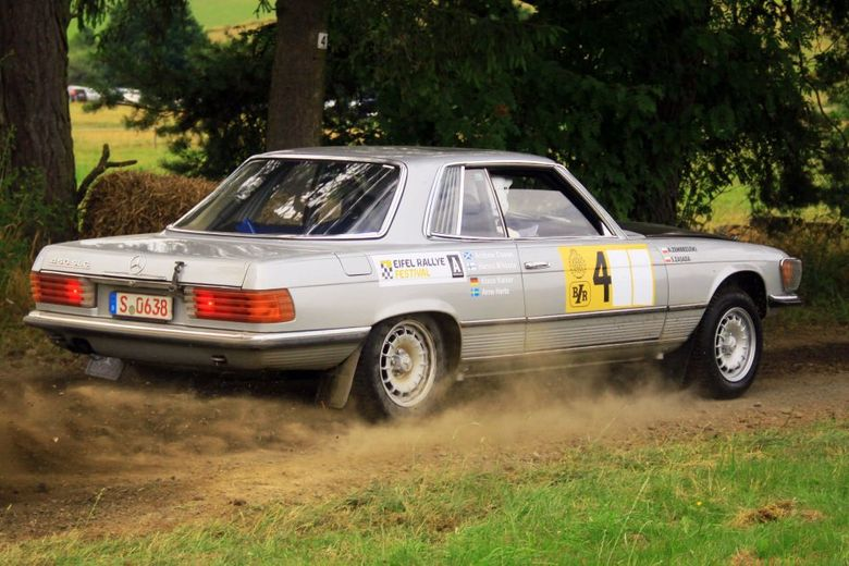 This Is What It's Like To Sit Shotgun With Rallying Royalty In A Big Benz