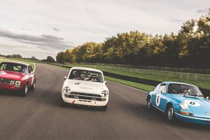 Warming up for the new historic racing season at Goodwood
