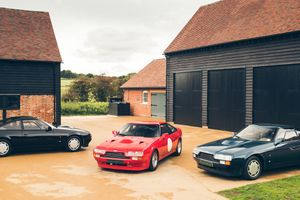 What's rarer than an Aston Martin V8 Zagato? Three of them!