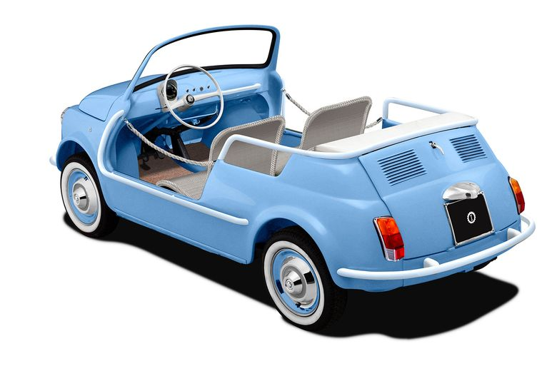 You'll only hear the waves of Lake Como with this electric Fiat 500
